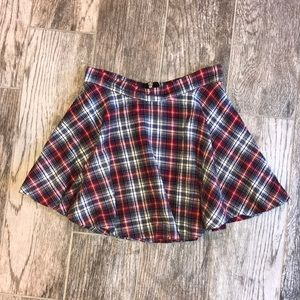 Plaid Skirt with zipper